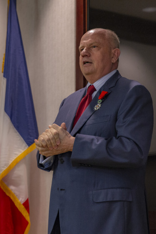 Martin Richenhagen, Chairman, President and Chief Executive Officer of AGCO Corporation, has been named a Chevalier (Knight) of the Légion d'Honneur (Legion of Honor) by the government of France during a recent ceremony in Duluth, Georgia, USA. (Photo: Business Wire)