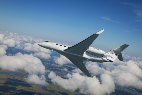 The G500 Symmetry Flight Deck featuring BAE Systems' active stick technology. (Photo: Gulfstream)