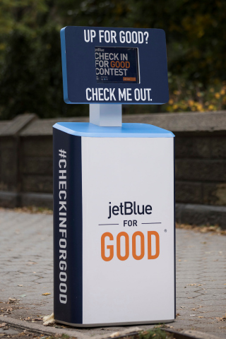 JetBlue Customers Can #CheckInForGood Online and at Pop-up Kiosks through Oct. 26 to Enter For an Opportunity to Join JetBlue on a Four-Day Service Trip to Destination Good During JetBlue For Good® Month in November 2018 (Photo: Business Wire)