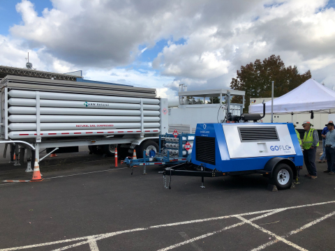 Onboard Dynamics' GoFlo® CNG80 operating at NW Natural's Sherwood, Oregon service center. (Photo: Business Wire)