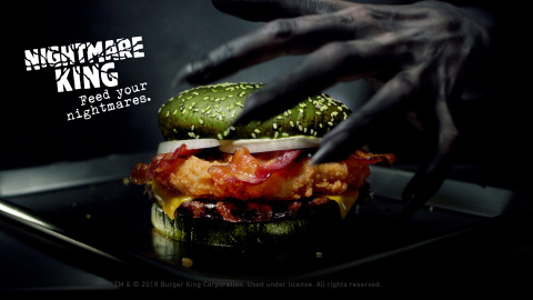 The Burger King® Brand Creates a Halloween Sandwich Clinically Proven to Induce Nightmares (Photo: Business Wire)