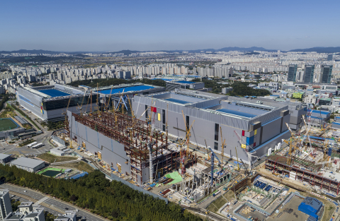 Samsung's newest EUV fab under construction in Hwaseong, South Korea (Photo: Business Wire)