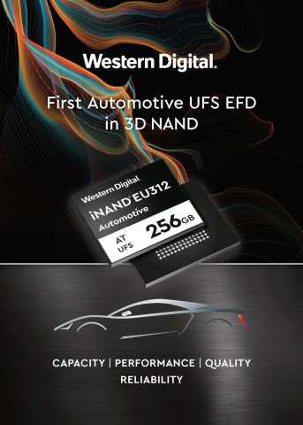 Western Digital - Industry's First Automotive UFS EFD in 3D NAND (Graphic: Business Wire)