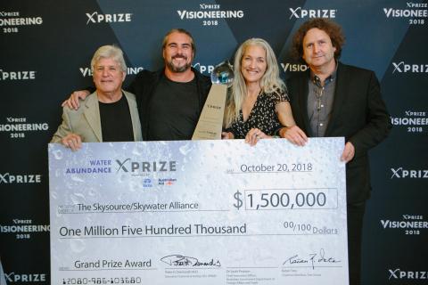 The Skysource / Skywater Alliance team, based in Venice Beach, California, wins the Water Abundance  ...