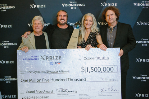 The Skysource / Skywater Alliance team, based in Venice Beach, California, wins the Water Abundance XPRIZE (Photo: Business Wire)