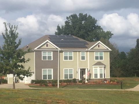 New solar powered home at Shaw Family Housing on Shaw Air Force Base in South Carolina. (Photo: Business Wire)