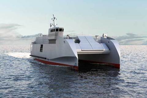CNIM's amphibious craft, the L-CAT® Shore-to-shore (Photo: CNIM)