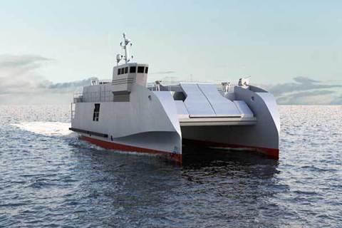CNIM's amphibious craft, the L-CAT® Shore-to-shore (Photo: CNIM)