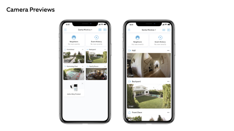 Camera Previews allow neighbors to view recent images from all of their devices in one seamless, consolidated view. (Photo: Business Wire)