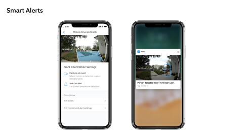 Ring Smart Alerts use cloud-based video analysis to ensure that neighbors with a Ring Protect Plan receive only the alerts that matter most to them. (Photo: Business Wire)