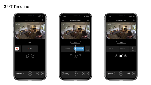 Timeline makes reviewing Ring recordings even easier by allowing neighbors to scroll through their Ring event history on a color-coded timeline, so they know what happened and when. (Photo: Business Wire)