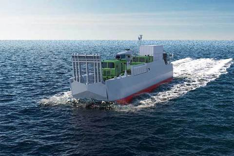 CNIM's LCA is designed to transfer equipment and people ashore efficiently from the mothership (NATO ...