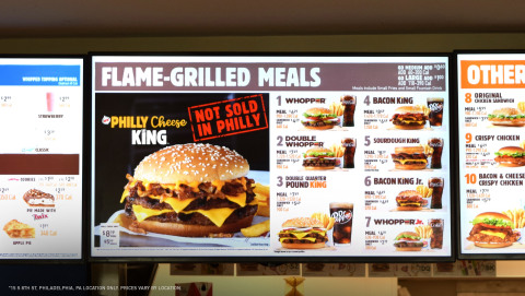BURGER KING® Launches the PHILLY CHEESE KING® Nationwide Except at One Restaurant in Philadelphia (Photo: Business Wire)