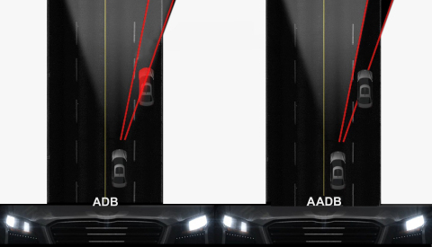 Hyundai Mobis developed the world's first Advanced Adaptive Driving Beam (AADB) which safely ensures ...