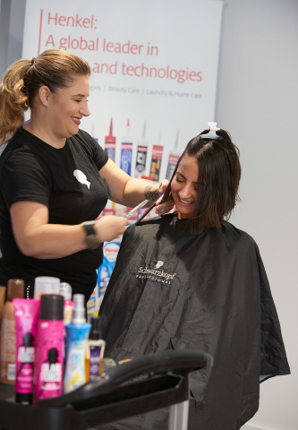 Nine Henkel employees donated 10+ inches of their hair to Locks of Love through the Schwarzkopf Million Chances hair donation event. (Photo: Business Wire)