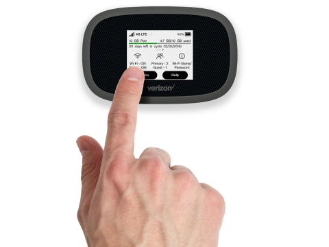 Verizon Jetpack® MiFi® 8800L - User Friendly Touch Screen (Photo: Business Wire)