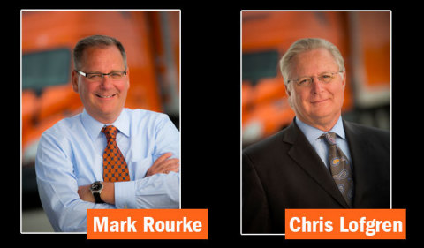 Chris Lofgren will retire in April 2019 as president and CEO of Schneider National, Inc. Mark Rourke will succeed Lofgren in the role. (Photo: Business Wire)