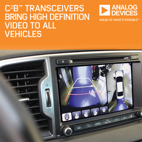 Analog Devices' Transceivers Bring High-Def Video via Existing Vehicle Cable and Connector Infrastru ...