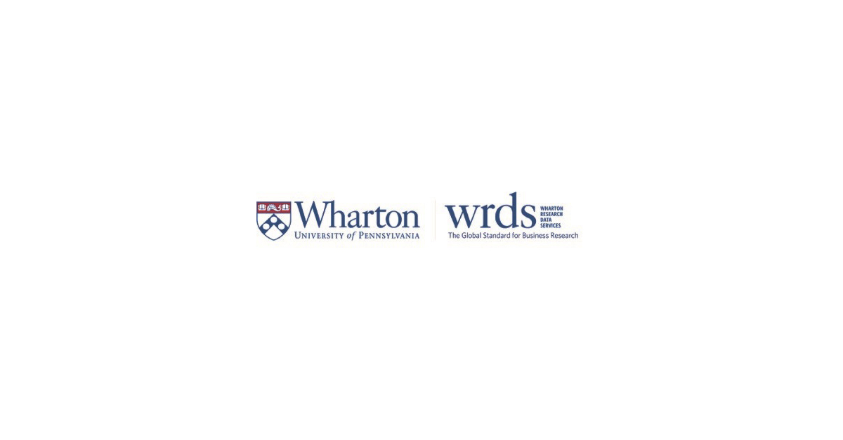 Wharton Research Data Services Awards Best Paper Prize for Research