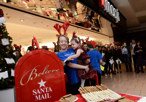 Macy's celebrates the launch of its 11th annual Believe campaign benefitting Make-A-Wish®. (Photo: B ...