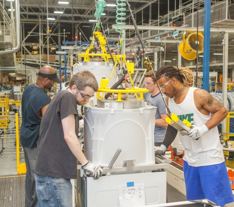 A GE Appliances' plant in Louisville, KY. GE Appliances launches GEA2DAY, creating 150 new jobs and offering participants up to $6,000 in tuition assistance. (Photo: GE Appliances, a Haier company)