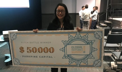 Binary Bubbles CEO Lisa Wong at GVS 2018  (Photo: Business Wire)