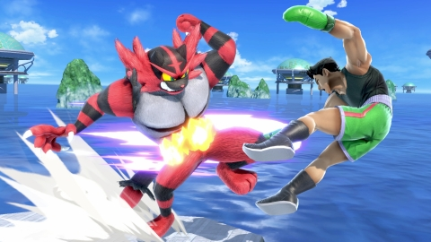The final fighter to join the battle in time for the game's launch is Incineroar, the advanced evolution of Litten, who made his first appearance in the Pokémon Sun and Pokémon Moon games. Incineroar uses pro-wrestling moves, culminating in an epic Final Smash called Max Malicious Moonsault, based on his Z-Move from the Pokémon games. (Graphic: Business Wire)