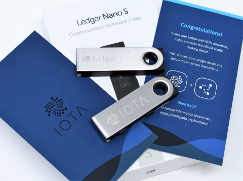 IOTA Integrates with Ledger Hardware Wallet for Secure Storage and User Access of IOTA Tokens (Photo: Business Wire)