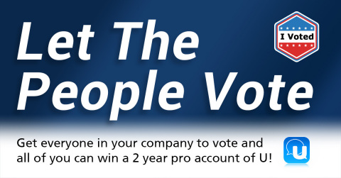 CyberLink Launches #IvoteUwin Campaign to Encourage Employees to Vote (Photo: Business Wire)