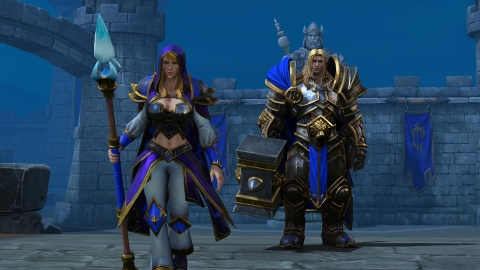Warcraft III: Reforged features over four hours of updated in-game cutscenes. (Graphic: Business Wire)