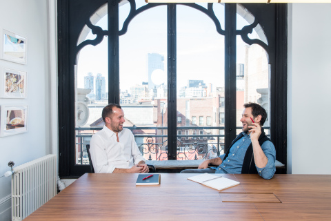 Reserve CEO, Greg Hong and Resy CEO + co- founder, Ben Leventhal (Photo: Business Wire)