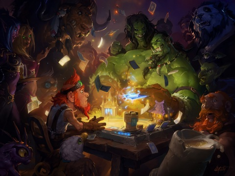 Hearthstone, Blizzard Entertainment's internationally acclaimed free-to-play digital card game, has reached the 100-million-player milestone. (Graphic: Business Wire)
