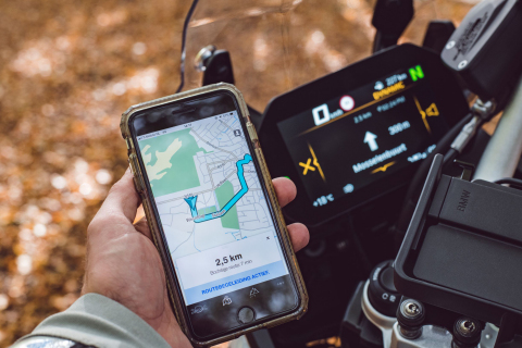 TomTom and BMW Motorrad Provide In-Bike Navigation via App (Photo: Business Wire)