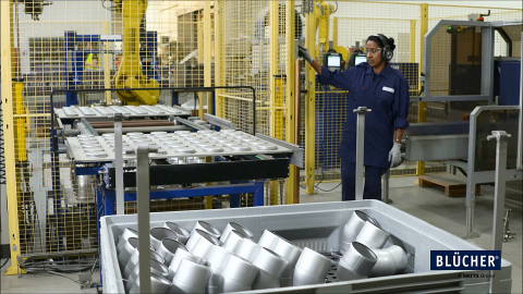 Fast delivery times and high-quality products are key drivers for the highly automated production facilities at Vildbjerg, Denmark. (Photo: Business Wire)