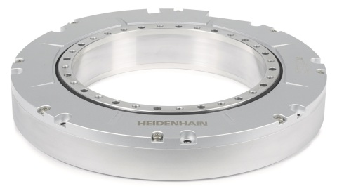 Common applications for HEIDENHAIN's New RCN 6000 sealed angle encoders are large-scale rotary table ...
