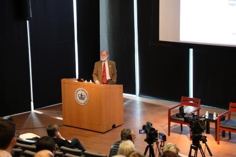 Nobel laureate, Dr. Peter Agre, the Bloomberg Distinguished Professor at the Johns Hopkins Bloomberg ...