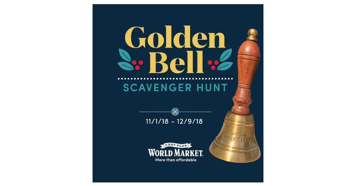 Cost Plus World Market Launches Its Golden Bell Scavenger Hunt Business Wire