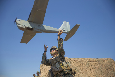 AeroVironment's RQ-20B Puma AE SUAS is designed for land-based and maritime operations. (U.S. Marine ...