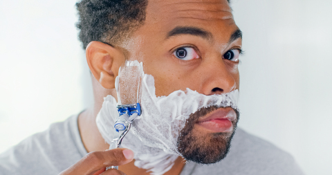 The SkinGuard technology is positioned between two optimally-spaced blades to gently smooth and flatten the skin away from the razor blades during the shave. (Photo: Business Wire)