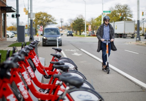 Ford Smart Mobility, LLC acquires Spin, a San Francisco-based electric scooter-sharing company that provides customers an alternative for first- and last-mile transportation (Photo: Business Wire)