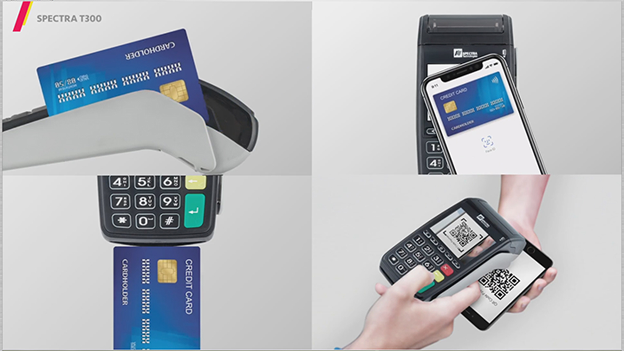 All-in-one stylish T300 POS Terminal suitable for varies kind of payment projects.