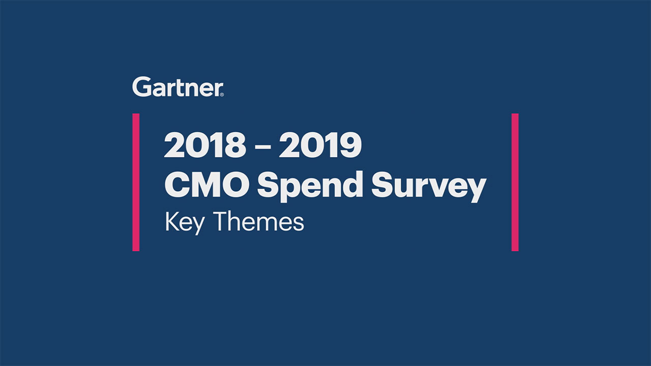 Key Findings from Gartner's CMO Spend Survey 2018