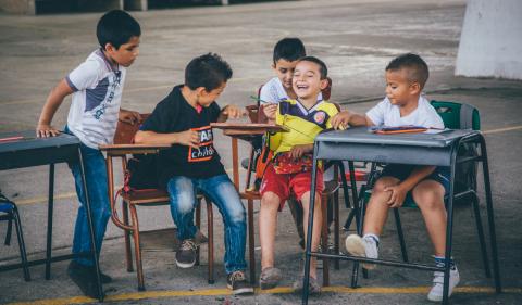 Children during War Child activities. Photographer: War Child.