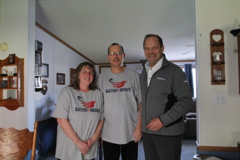 From left to right: Lisa and Craig Lindow and Brian Gottlieb, president of Tundraland Home Improveme ...