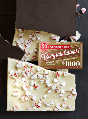 Williams Sonoma is giving away golden gift cards in this year's Peppermint Bark (Photo: Business Wir ...