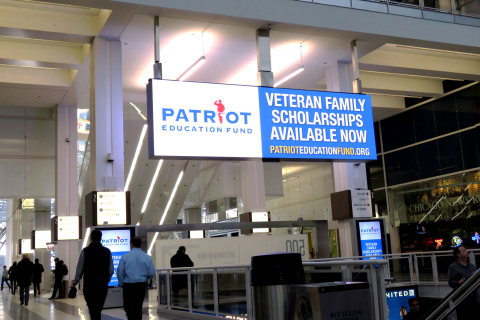 Clear Channel Outdoor promoted the Patriot Education Fund on billboards throughout Northeast Illinois to promote scholarships for military veterans and their families. (Photo: Business Wire)