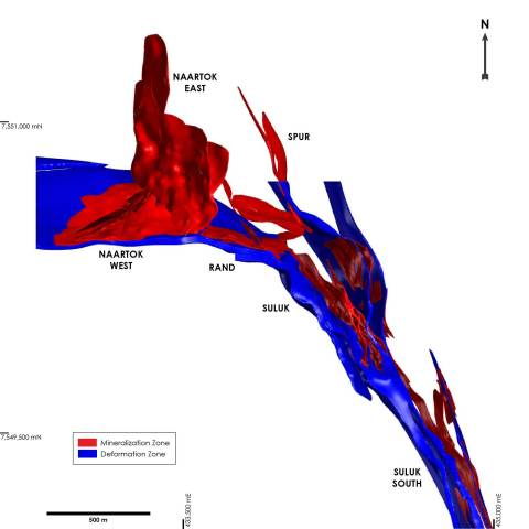 Figure 4: Plan View of the Madrid North Deposit Showing the Location of Naartok West and Naartok East Zones (Photo: Business Wire)