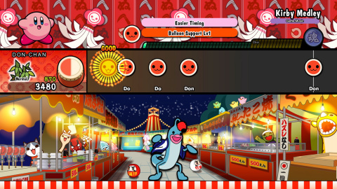 Enjoy Taiko no Tatsujin: Drum 'n' Fun!, the cult classic arcade rhythm game from Japan, in the comfort of your own home. (Graphic: Business Wire)