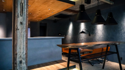 SEKAI HOTEL FUSE reception area. A gathering for locals as well, as it transforms to a coffee shop a ...