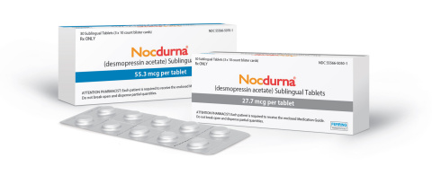 NOCDURNA® (desmopressin acetate) Sublingual Tablets Now Available by Prescription in US for Treatment of Nocturia Due to Nocturnal Polyuria (Photo: Business Wire)